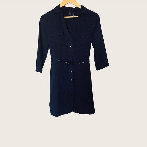 Vestido Mango Talla S Azul marino