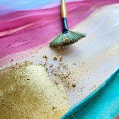 custom gold leaf painting