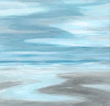 low tide pools at napeague | 14x14