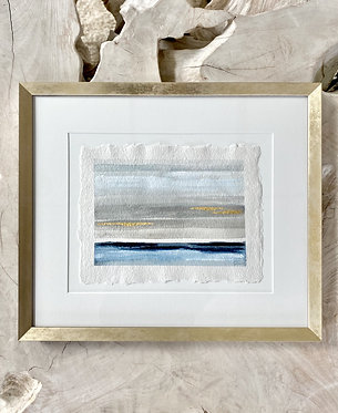 auction item #1 : watercolor painting and candle
