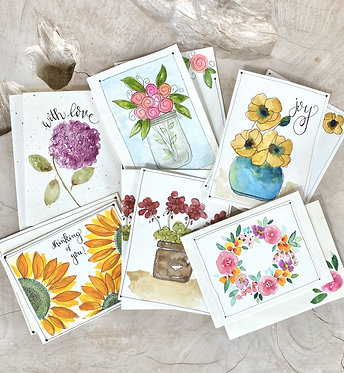 auction item #4: painted note cards and candle