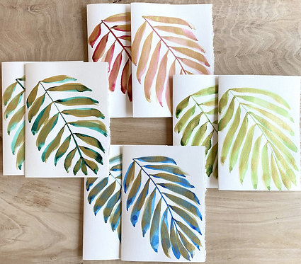 gilded palm multi-color notecards
