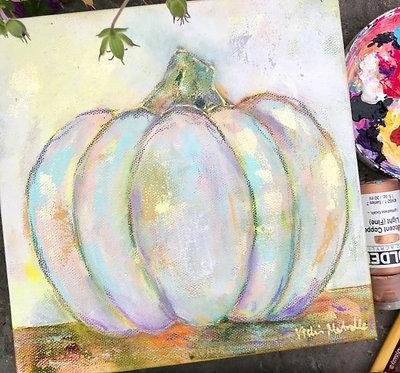 auction item #5: pumpkin painting