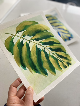 gilded palm in tropical green | 8 x 10