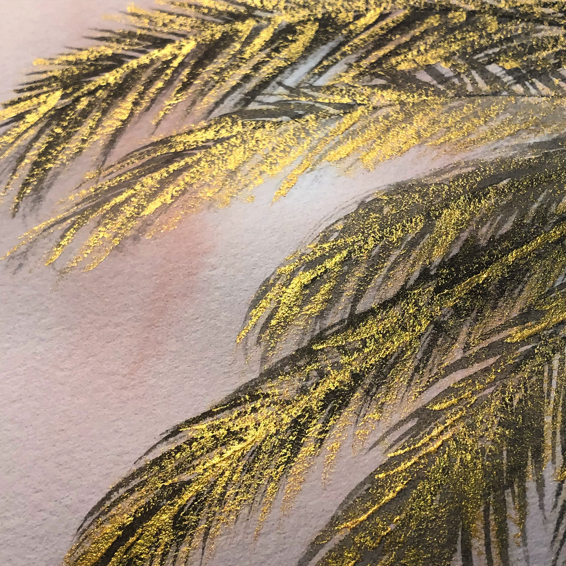 gilded fronds