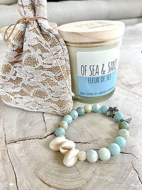 auction item #2: bracelet and candle