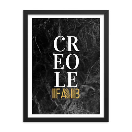 Sophisticated Creole Fab Framed Poster