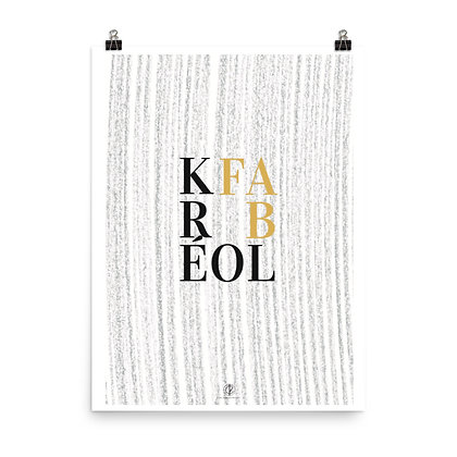 Kréol Fab Series Sugar Cane Lines Art Poster