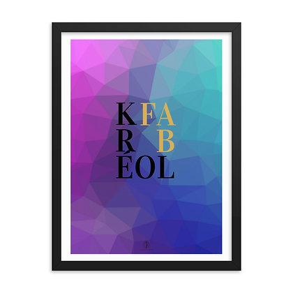 Kréol Fab Series Textured Framed Poster