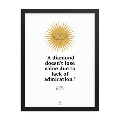 Diamond Framed Poster