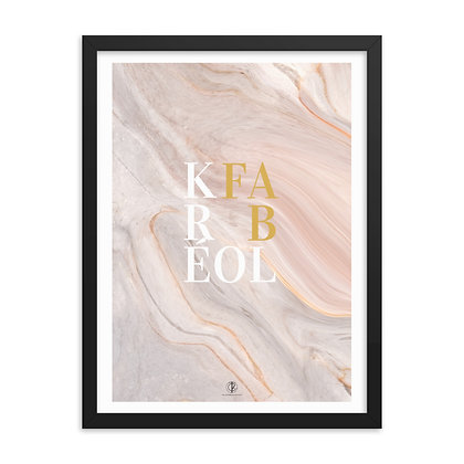 Kréol Fab Series Sandy Art Framed Poster