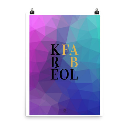 Kréol Fab Series Textured Art Poster