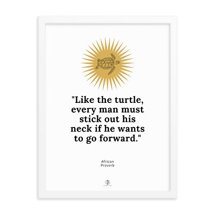 Be Like A Turtle Framed Poster
