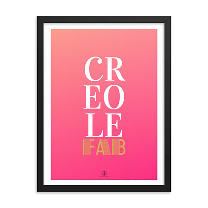 Pink Creole Framed Poster