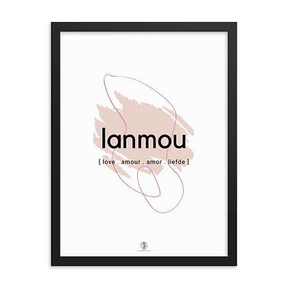 Créole Series Lanmou Framed poster
