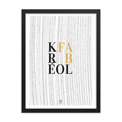 Kréol Fab Series Sugar Cane Lines Art Framed Poster
