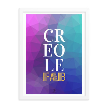 Textured Creole Fab Framed Poster