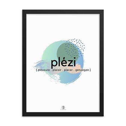 Créole Series Plézi Art Framed Poster