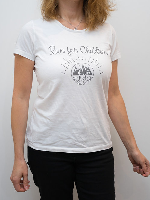 """T-Shirt """"RUN FORCHILDREN"""" Femme"""