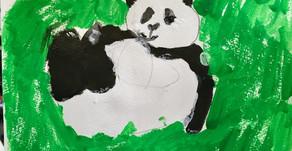 今週のテーマ: 白と黒のえのぐで動物を描こう
