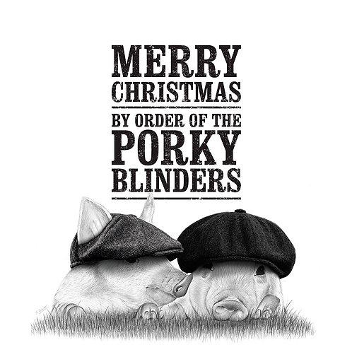 Porky Blinders Christmas Card