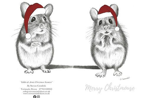 Double Sided Eddie & Arnie - Christmas Mice Card