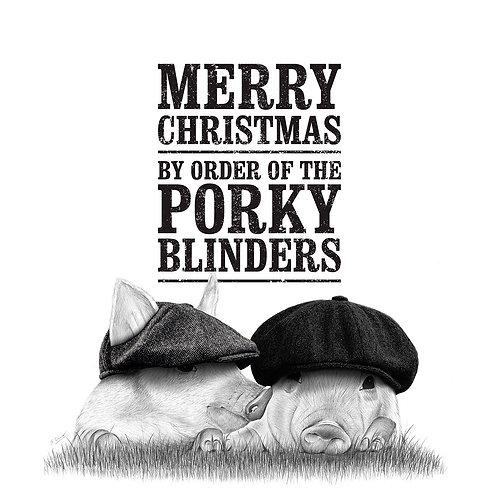 Christmas Card - Porky Blinders