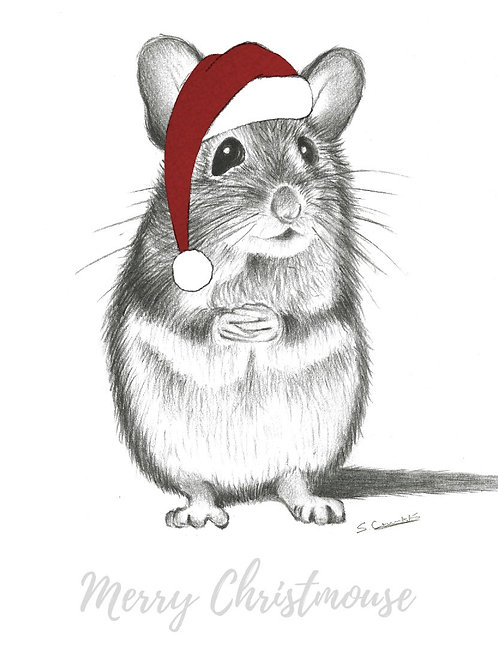 Eddie - Christmas Mouse Card