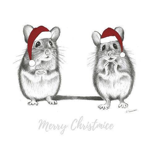 Eddie & Arnie - Christmas Mice Card