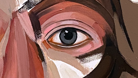 Study for King of Sicily, detail.