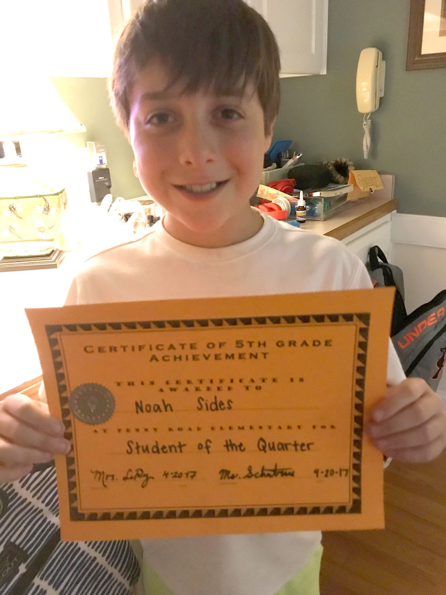 Way to go, Noah!