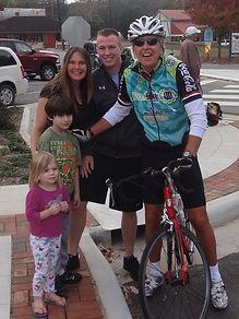 John on Bike with family