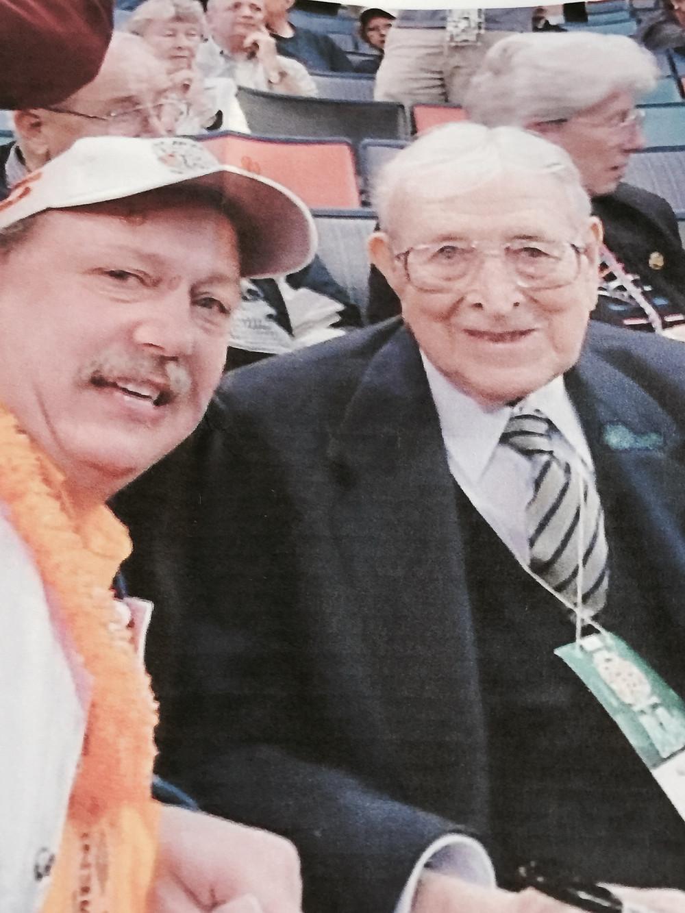 Michael Poirier and Coach John Wooden