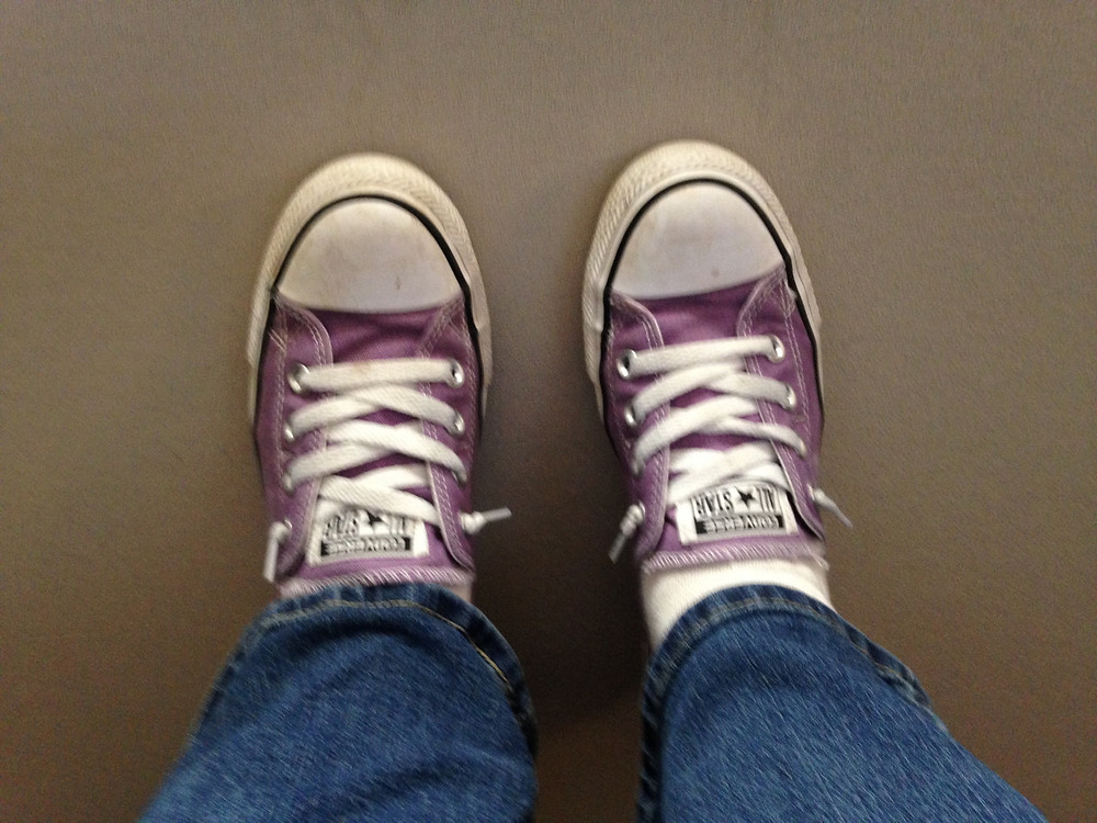 Portia Sportin' the purple Cons on Mike's Day