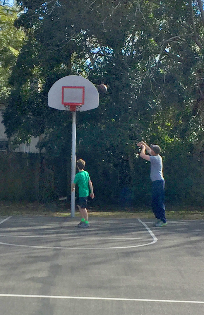 Father and Son Basketball