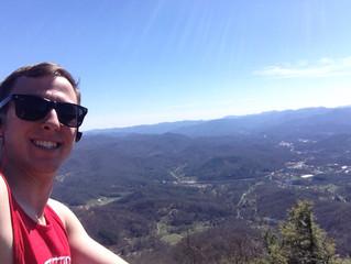 Zach hiked Cullowhee Mountain