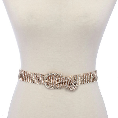 Rhinestone Belt gold