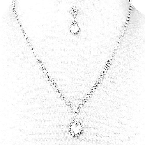 Multi Rhinestone Zirconia necklace set