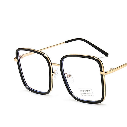 Big frame square glasses framed oversized