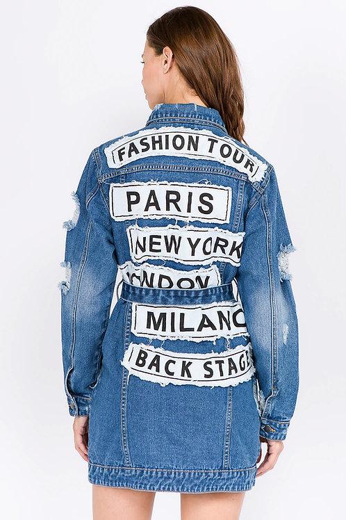 Denim fashion tour longjacket