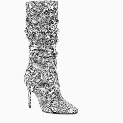 Silver bling  high boot