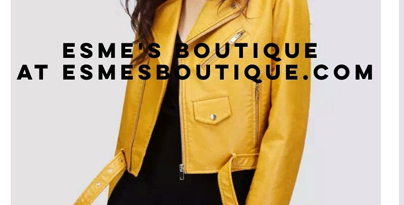 Mustard yellow faux motto jacket