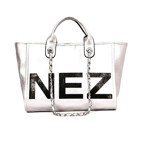 Graphic Silver Bag