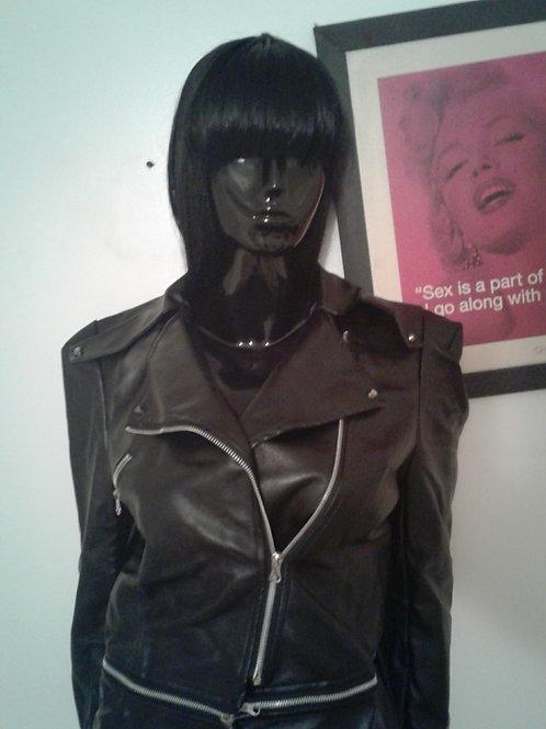 Black Faux Motor Jacket