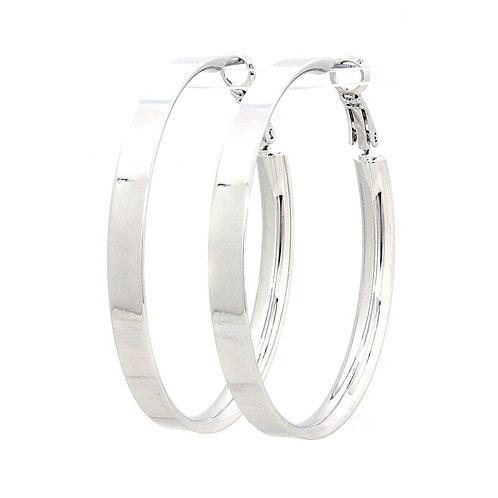 Silver metal hoop earings