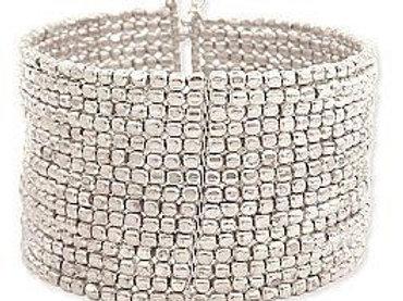 Silver crystal  bracelet