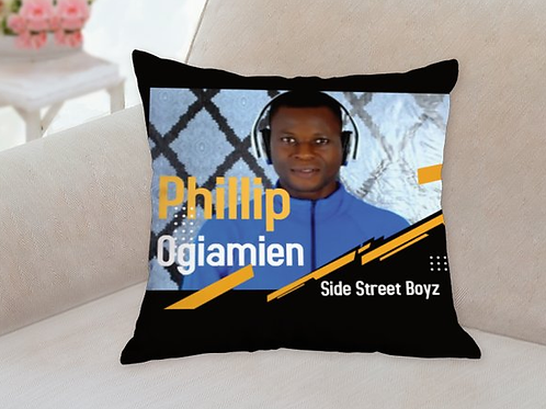 Phillip Ogiamien Side Street Boyz cushion
