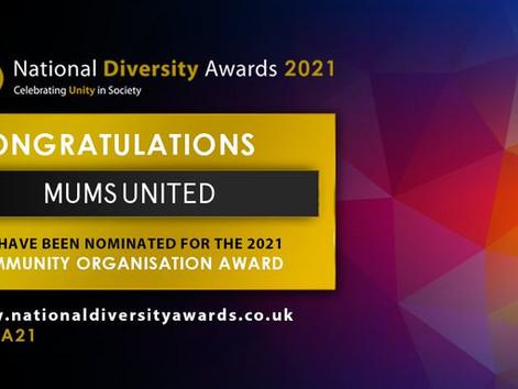 Mums United nominated for National Diversity Awards