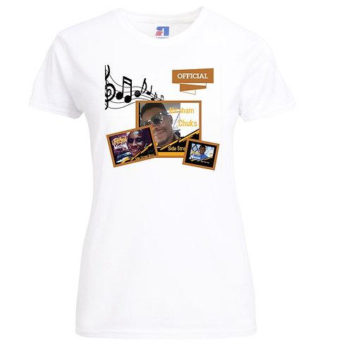 100% Ring-Spun Cotton Ink Printed Ladies' Slim T-Shirt