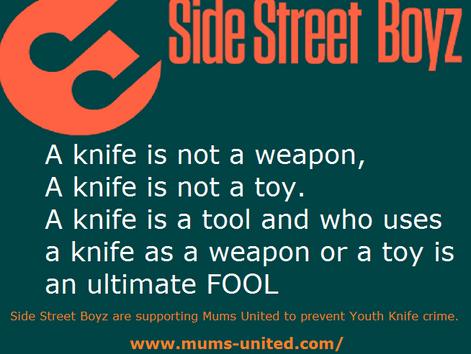 Side Street Boyz 'Say no to drugs & firearms' Campaign